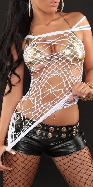 Sexy Netz-Top im Spider-Look von INstylefashion in Weiss