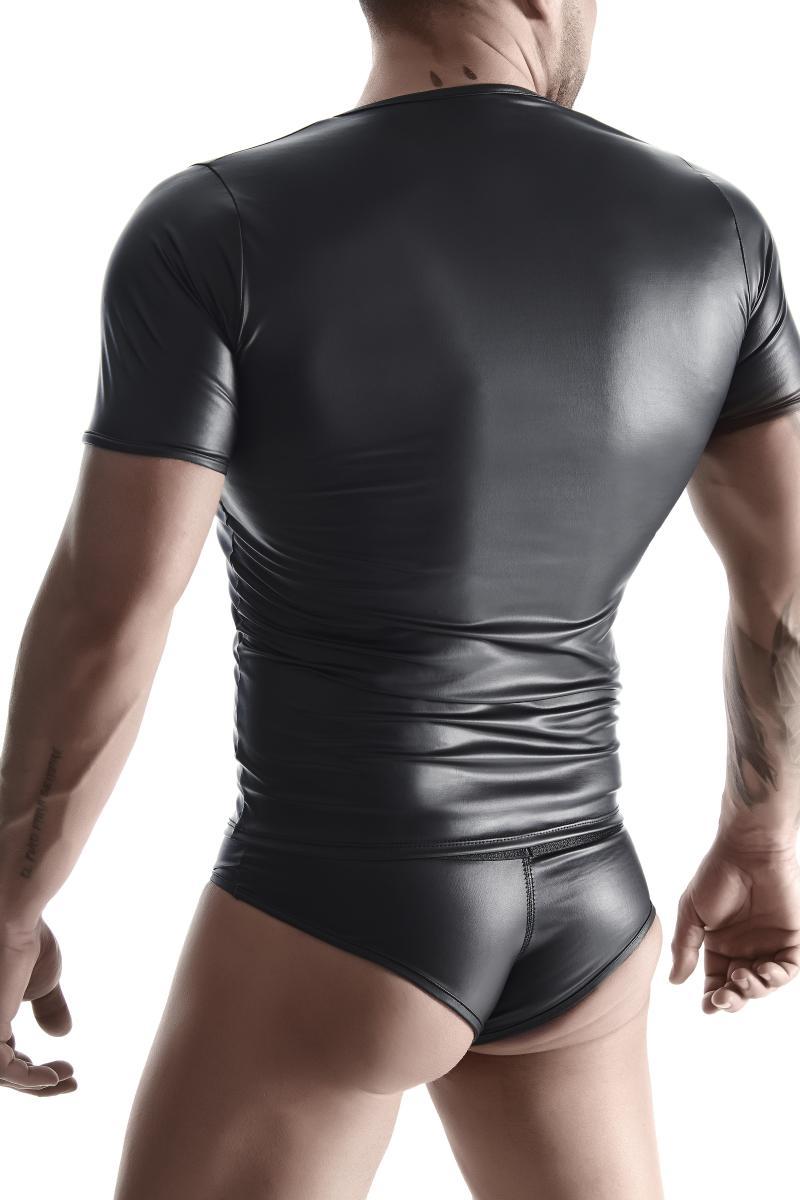 T-SHIRT TSH014 SCHWARZ von Regnes Fetish Planet  im Gaywear Fetish Style