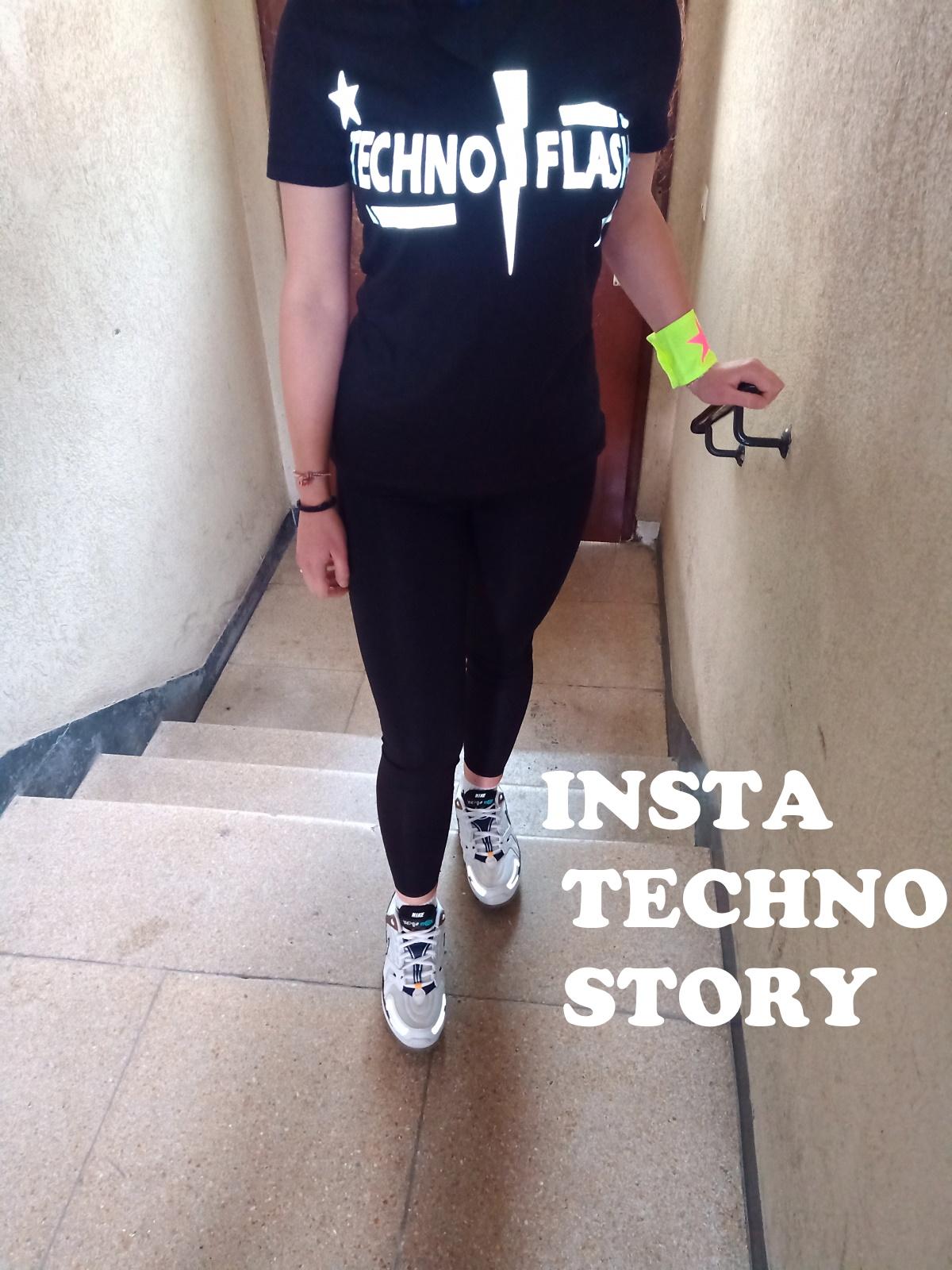 "Women T-Shirt von SONICX Model "" Techno FLASH""  Techno Wear Style Flash Attacke"