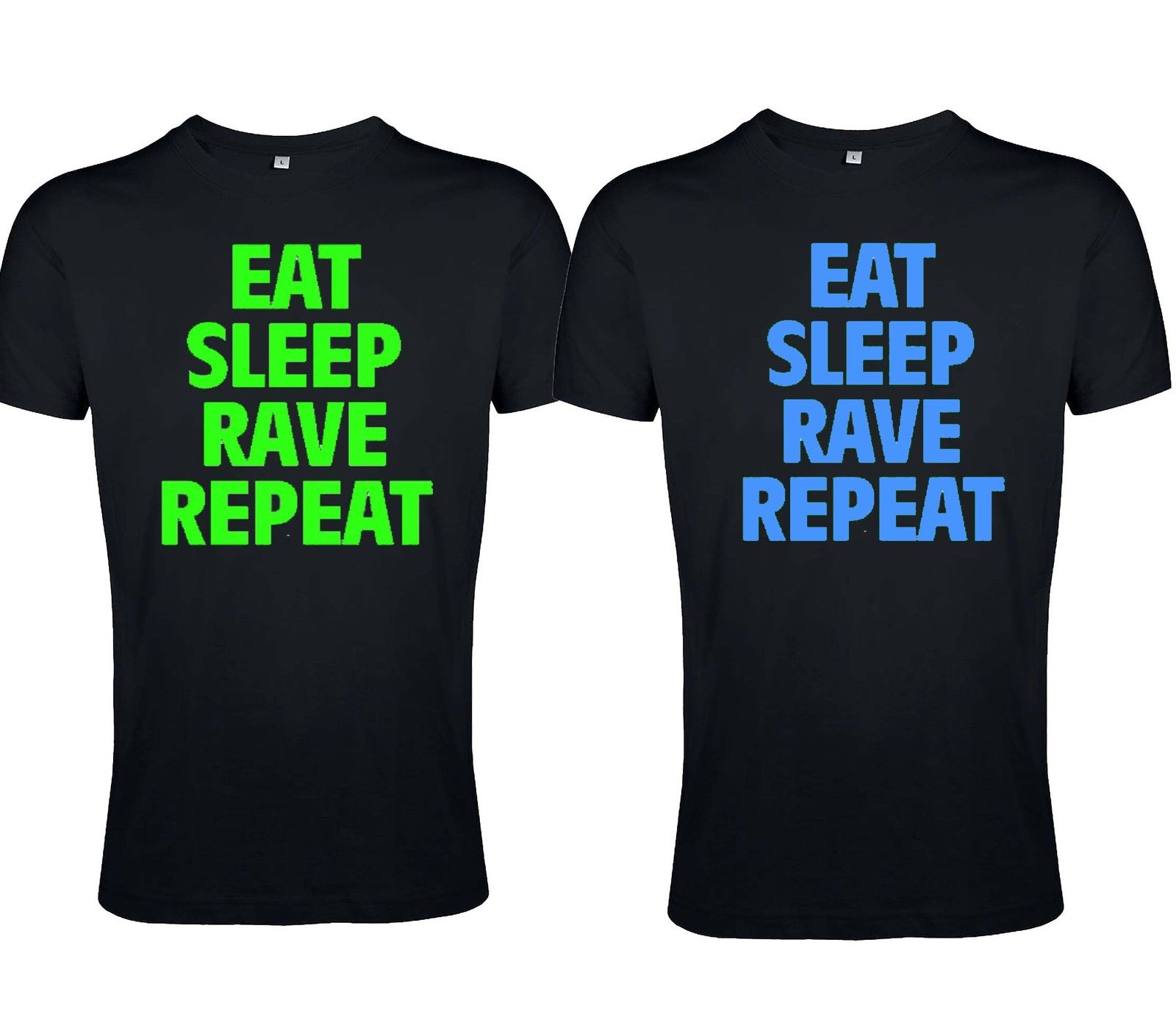 "T-Shirt von SONIC X Model "" Eat Sleep Rave Repeat"""