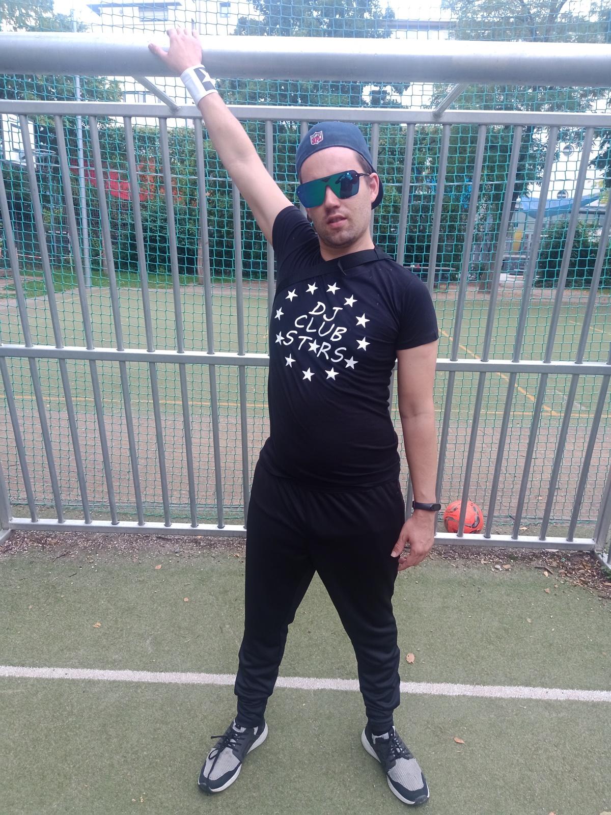 """Techno Rave Shirt von SONICX Model """"DJ STARS"""" in verschiedenen Farbkombinationen"""