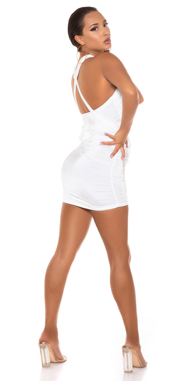 SEXY FIGURBETONTES KLEID ZUM SCHNÜREN MIT CUT-OUT von  IN Stylefashion  in Weiss
