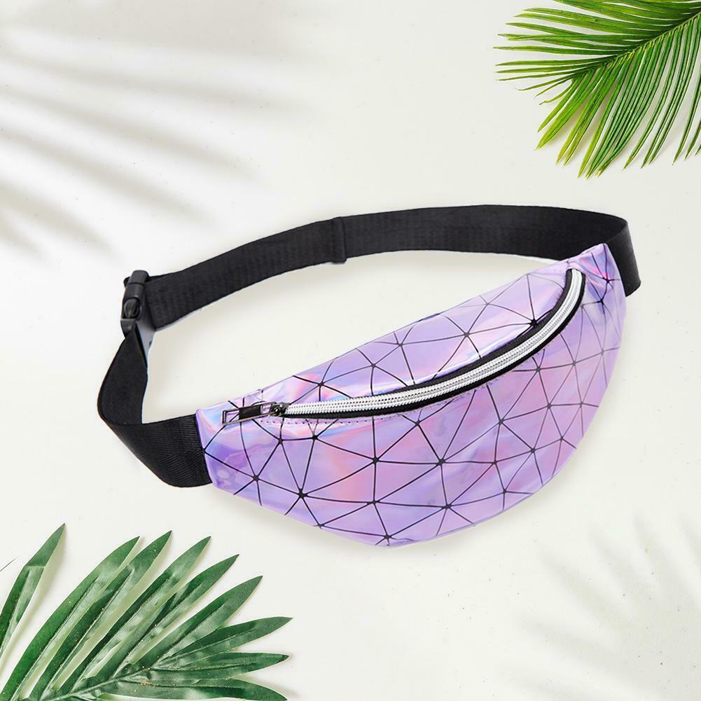 """Schulter-Bauchtasche von INCERUN Model """"  Geometric Holographic""""  im Techno Wear Bag Style"""