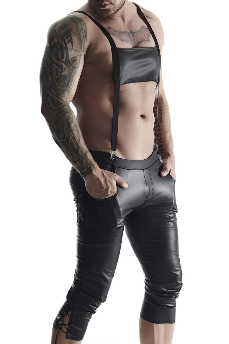 BERMUDAS  in Schwarz von Regnes Fetish Planet  im Gaywear Style