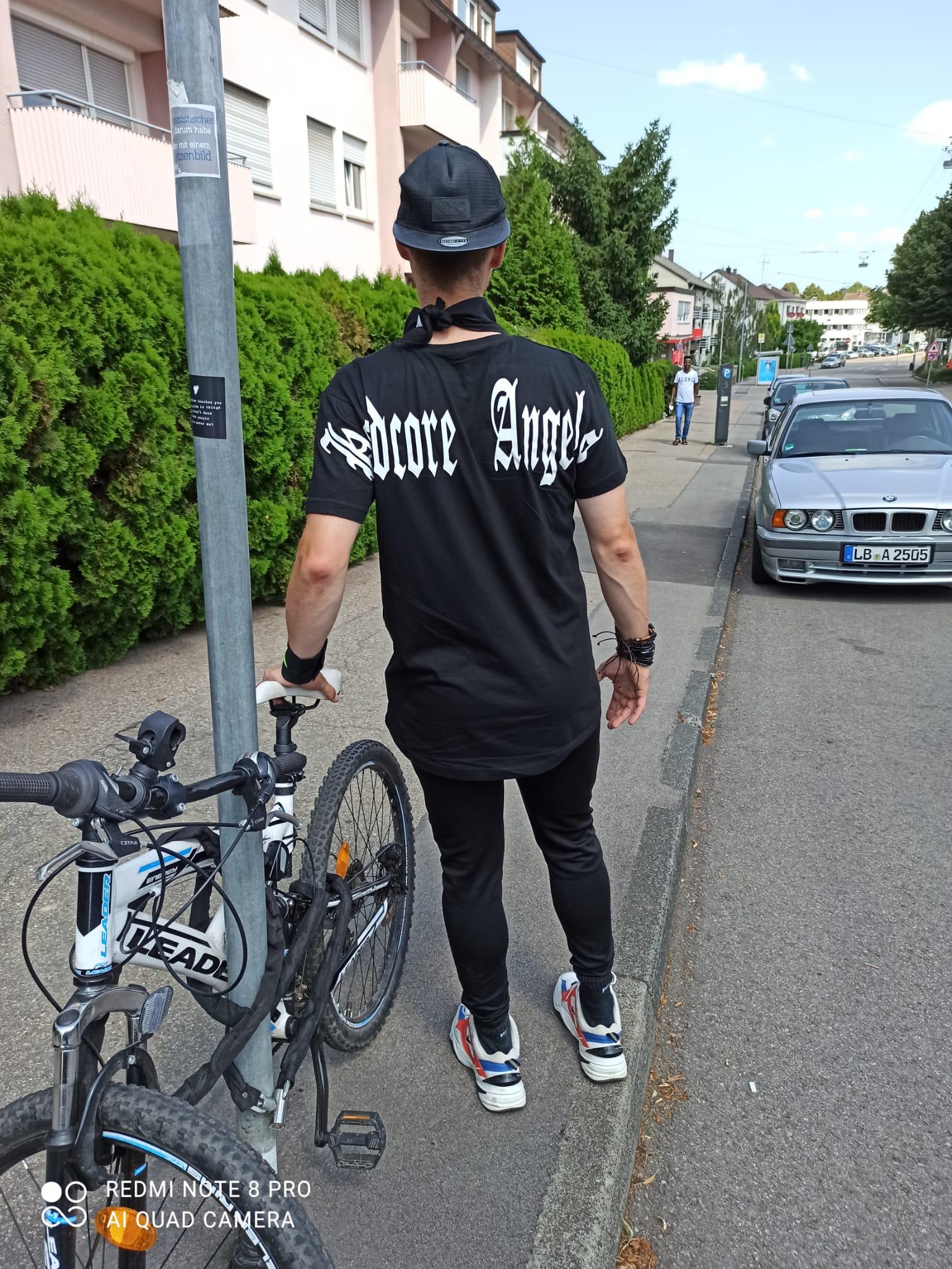 """T-Shirt von Hardcore Trip X  """" HARDCORE ANGELS""""  Hardcore Shirt  in Schwarz Weiss"""