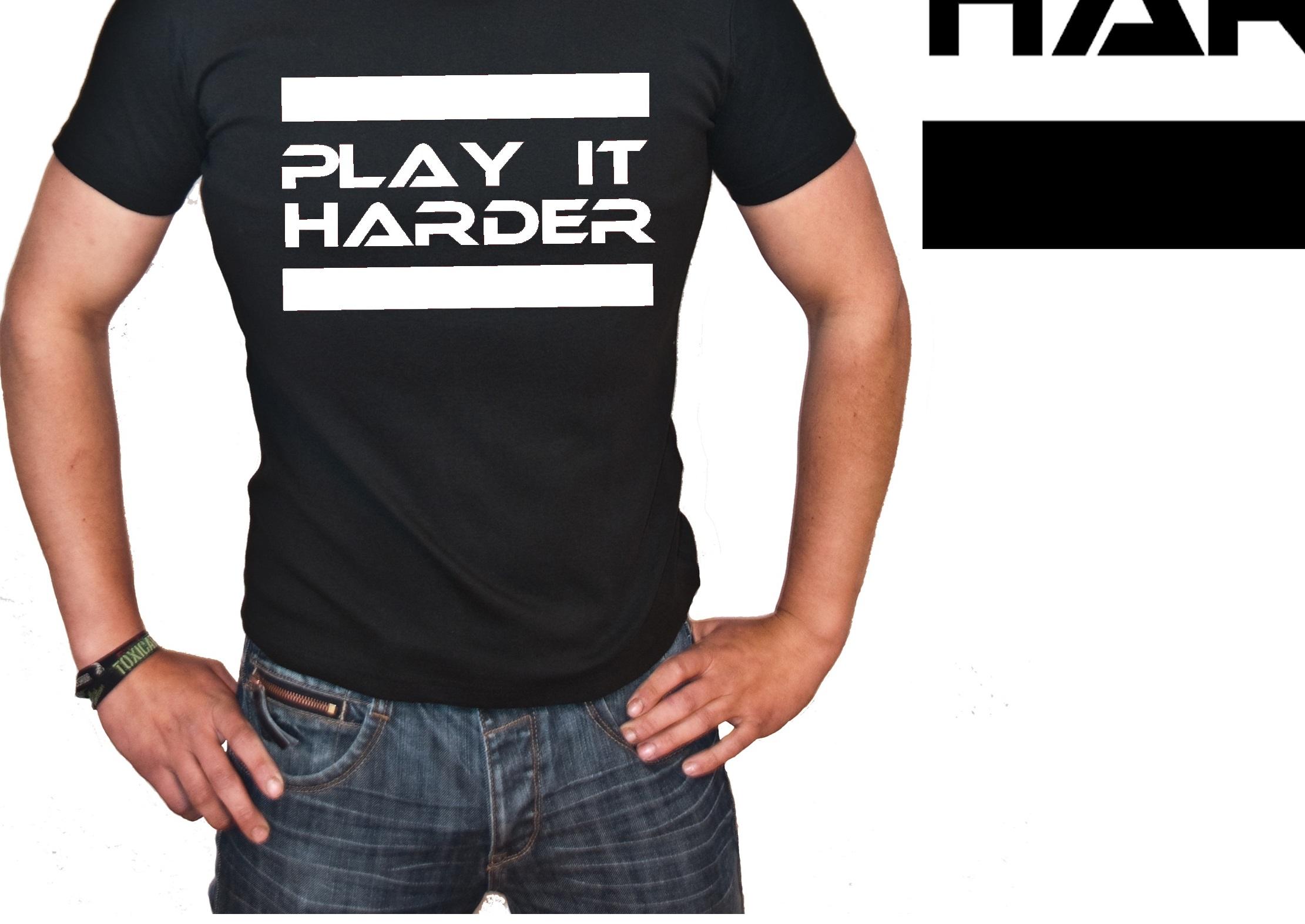 "T-Shirt von SONIC X Model "" PLAY IT HARDER"""