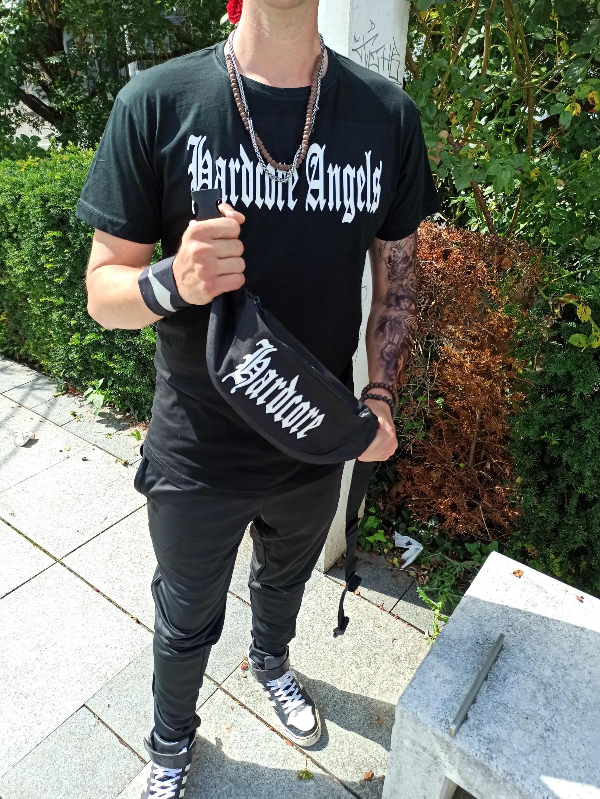 """Long Shirt  von Hardcore Trip X  """" Hardcore Angels Front""""  Hardcore Shirt  in Schwarz Weiss"""