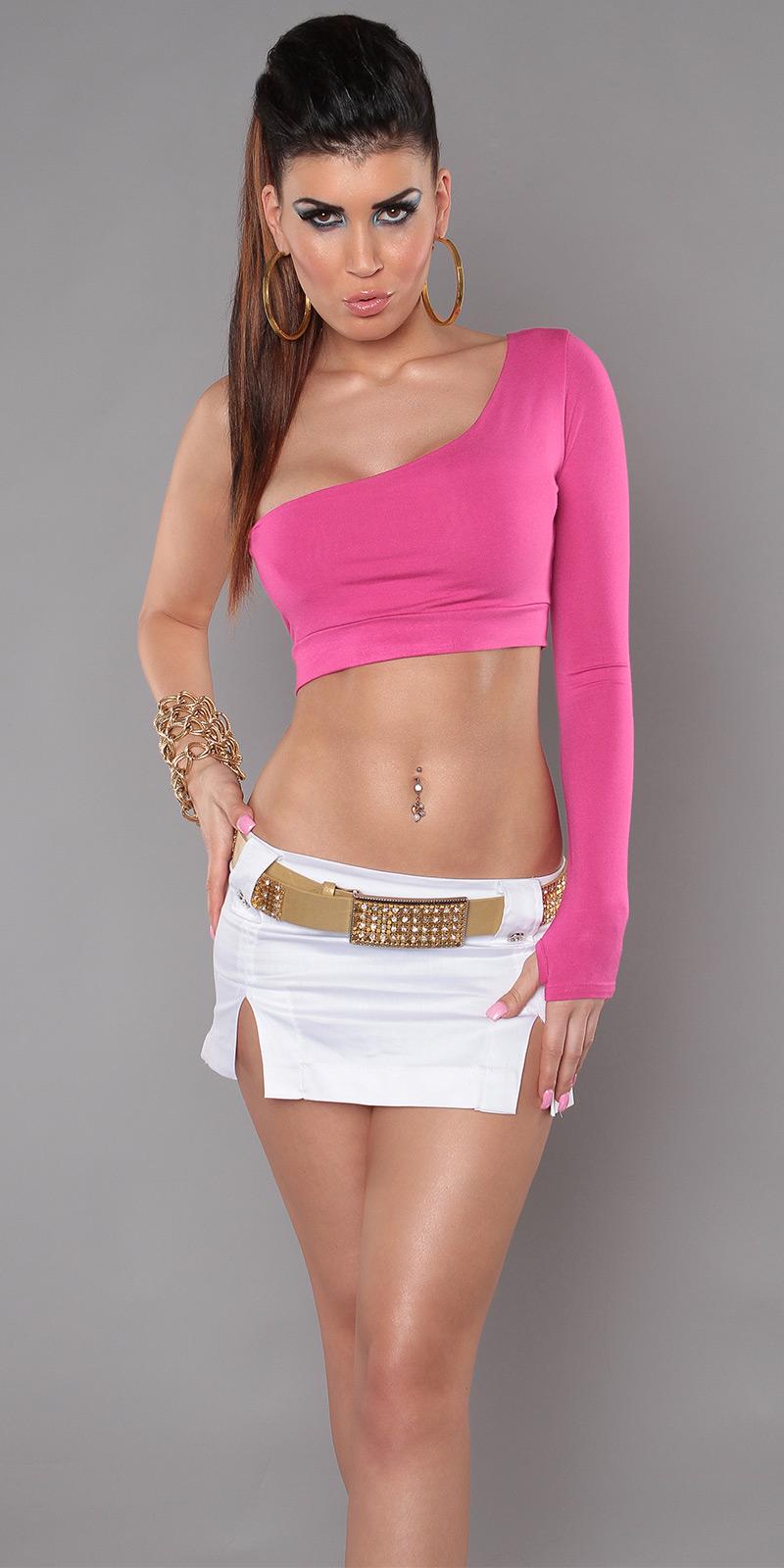Sexy Onearm Top, bauchfrei  von INstylefashion in Rosa