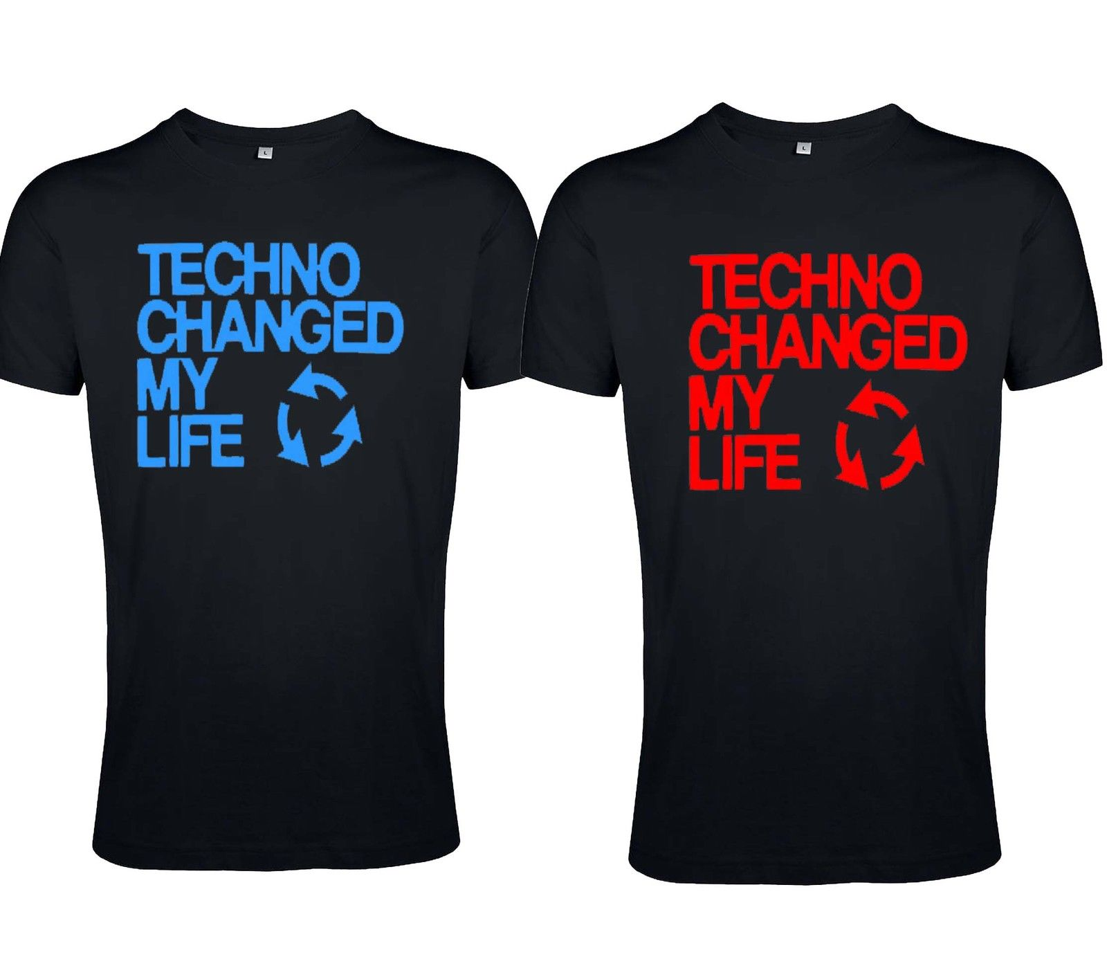 "T-Shirt von SONIC X Model ""  TECHNO CHANGE MY LIFE"""