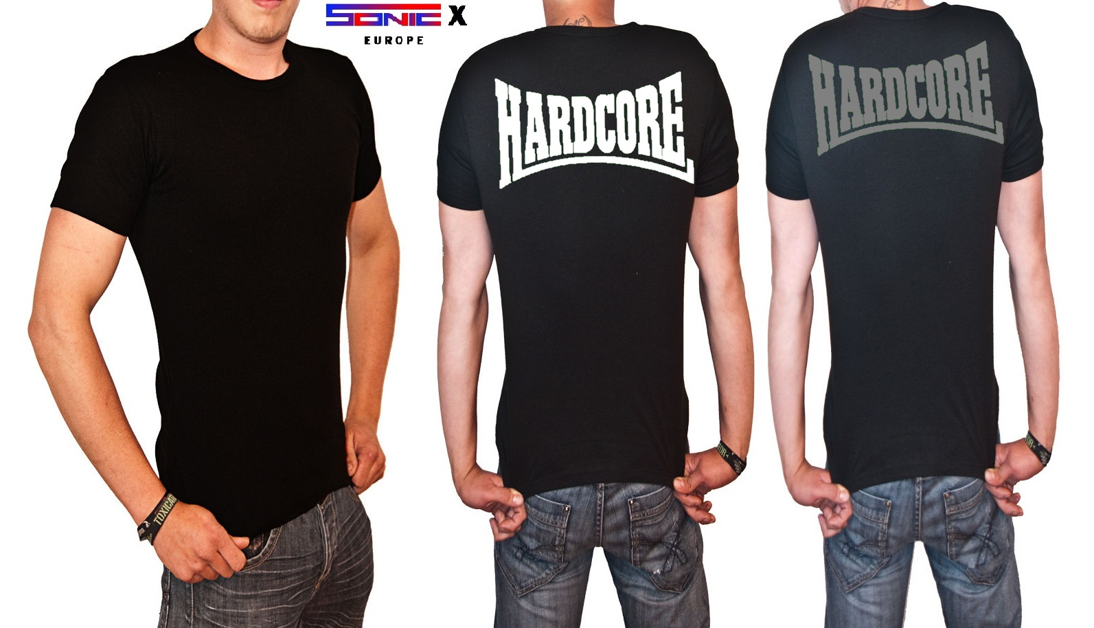 "T-Shirt von SONIC X Model "" HARDCORE CLASSIC BACK"""