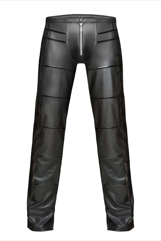 Schwarze lange Hose von Noir Handmade in Schwarz  (Matt)