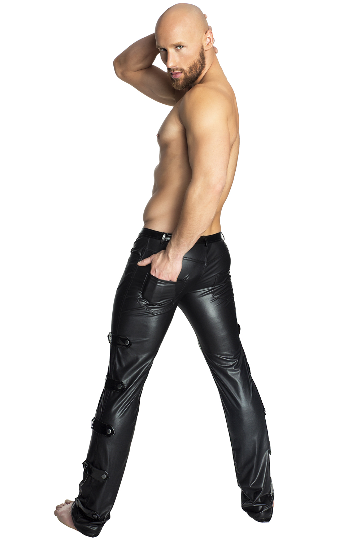 schwarze lange Hose von Noir Handmade in Schwarz