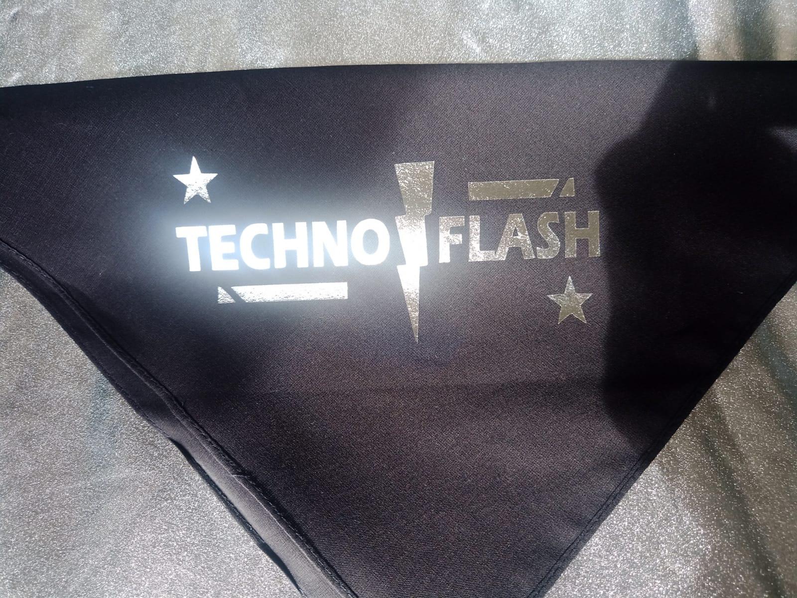 "Bandana / Halstuch  von SONICX Model "" Techno Flash""  Rave Wear Style in Space Silver"