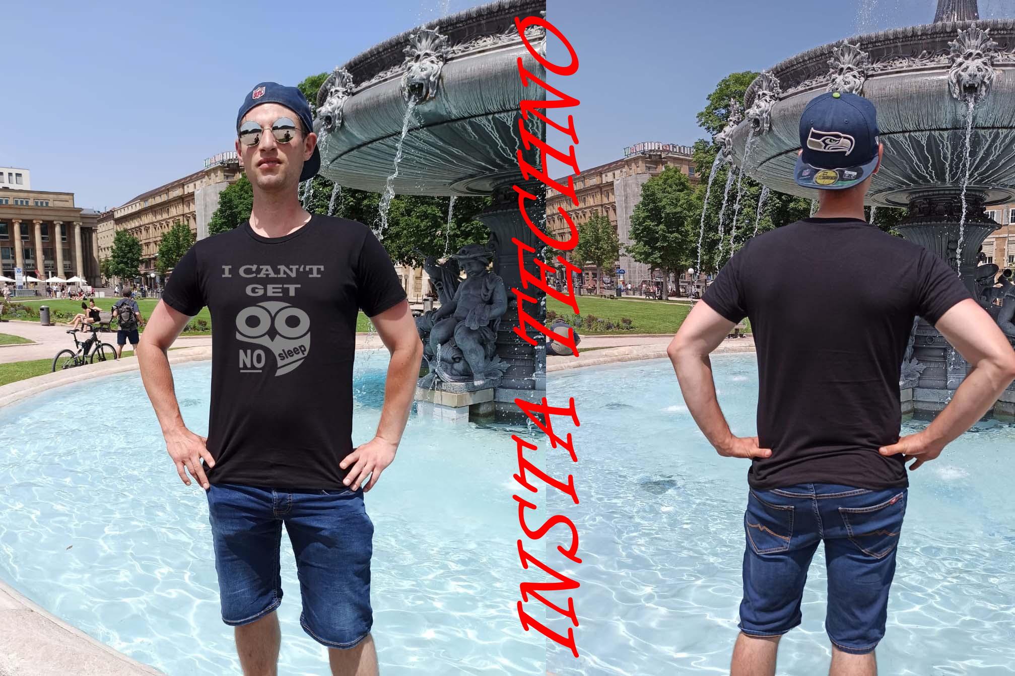 """T-Shirt von RAVE X Model """"NO SLEEP"""" in Schwarz mit Weiss oder Reflex"""
