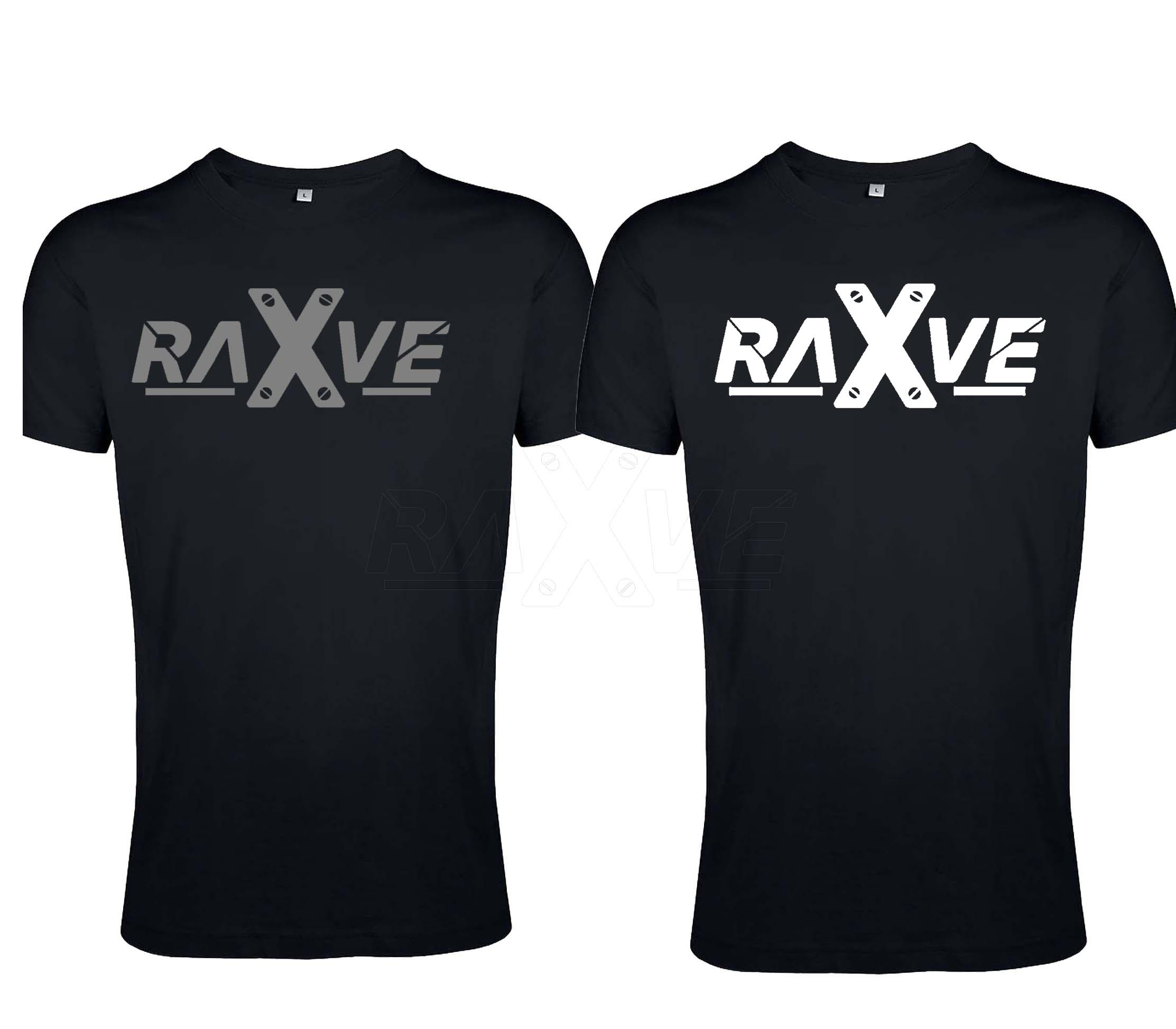 """Techno Rave Shirt von RAVE X Model """"RAVE x 2k21"""" in Schwarz mit Weiss oder Relfex"""
